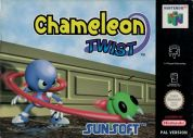 Scan of front side of box of Chameleon Twist