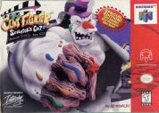 Scan of front side of box of ClayFighter: The Sculptor's Cut