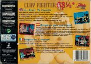 Scan of back side of box of ClayFighter 63 1/3