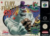 Scan of front side of box of ClayFighter 63 1/3