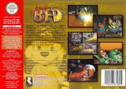 Scan of back side of box of Conker's Bad Fur Day
