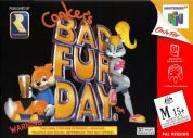 Scan of front side of box of Conker's Bad Fur Day