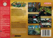 Scan of back side of box of Cruis'n World