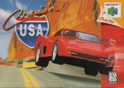 Scan of front side of box of Cruis'n USA