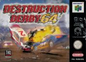 Scan of front side of box of Destruction Derby 64