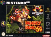 Scan of front side of box of Donkey Kong 64