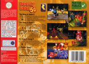 Scan of back side of box of Donkey Kong 64
