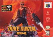 Scan of front side of box of Duke Nukem 64