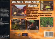 Scan of back side of box of Duke Nukem 64