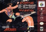 Scan of front side of box of ECW Hardcore Revolution