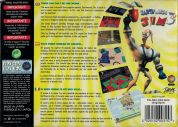 Scan of back side of box of Earthworm Jim 3D