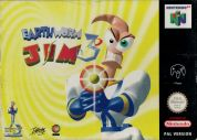 Scan of front side of box of Earthworm Jim 3D