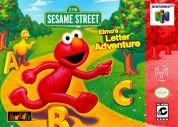 Scan of front side of box of Elmo's Letter Adventure