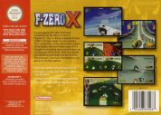 Scan of back side of box of F-Zero X