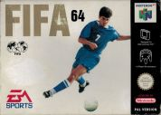 Scan of front side of box of FIFA 64