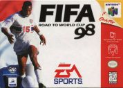 Scan of front side of box of FIFA 98: Road to the World Cup 98