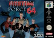Scan of front side of box of Fighting Force 64