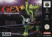 Scan of front side of box of Gex 3: Deep Cover Gecko