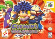Scan de la face avant de la boite de Goemon's Great Adventure