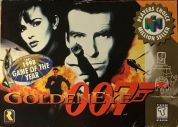 Scan of front side of box of Goldeneye 007