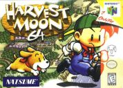 Scan of front side of box of Harvest Moon 64