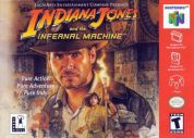 Scan of front side of box of Indiana Jones and the Infernal Machine