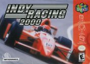 Scan of front side of box of Indy Racing 2000
