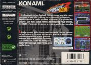 Scan of back side of box of International Superstar Soccer 2000