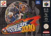 Scan of front side of box of International Superstar Soccer 2000