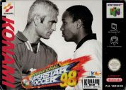 Scan of front side of box of International Superstar Soccer 98