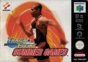 Scan of front side of box of International Track & Field: Summer Games