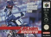 Scan of front side of box of Jeremy McGrath Supercross 2000