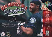 Scan of front side of box of Ken Griffey Jr.'s Slugfest