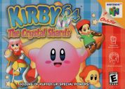 Scan of front side of box of Kirby 64: The Crystal Shards