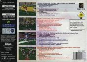 Scan of back side of box of Madden Football 64