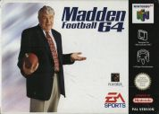 Scan of front side of box of Madden Football 64