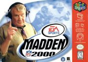 Scan of front side of box of Madden NFL 2000