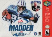 Scan of front side of box of Madden NFL 2001