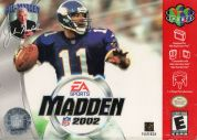Scan of front side of box of Madden NFL 2002