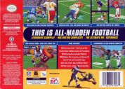 Scan of back side of box of Madden NFL 99