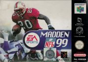 Scan of front side of box of Madden NFL 99