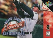Scan of front side of box of Major League Baseball Featuring Ken Griffey, Jr.