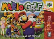 Scan of front side of box of Mario Golf