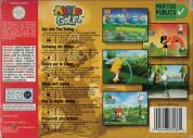 Scan of back side of box of Mario Golf