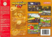 Scan of back side of box of Mario Kart 64