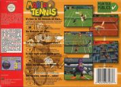 Scan of back side of box of Mario Tennis
