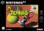 Scan of front side of box of Mario Tennis