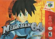 Scan of front side of box of Mega Man 64