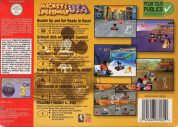 Scan of back side of box of Mickey's Speedway USA