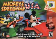 Scan of front side of box of Mickey's Speedway USA